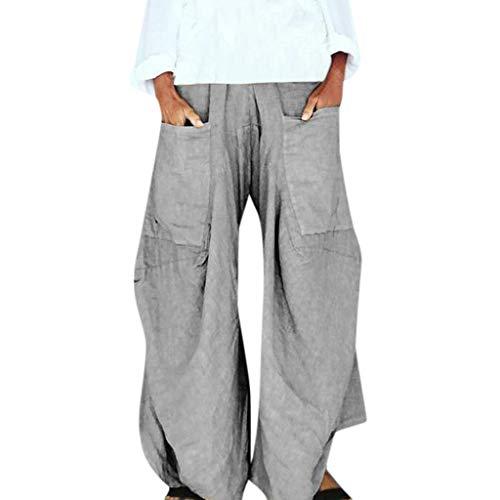 ❤❤JiaMeng Aladdin Pants, Haremshose,Freizeithose Pumphose Leichte Sommerhose leichte Stoffhose mit Taschen, Hosen Damen Stretch -