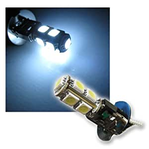 1 Paar H3 LED Lampe 9 SMD LEDs xenon-weiß 12V