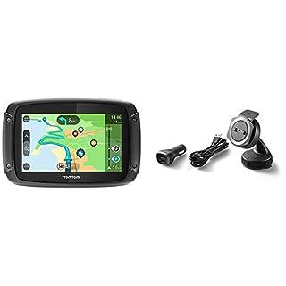 TomTom RIDER 500 + Kit de Fixation pour Voiture - GPS Moto - Cartographie Europe 48, Trafic, Zones de Danger à Vie et Appel Mains-Libres (compatible Siri et Google Now) (B07BMHFMVY) | Amazon Products