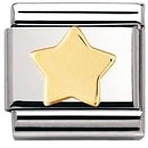 Nomination Composable Classic Fun Edelstahl und 18K-Gold (Stern) 030110
