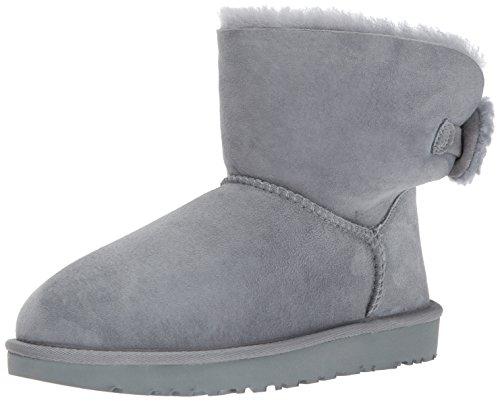 UGG® - Women´s Arielle - Damen Lammfell Stiefel Stiefelette mit Strickschleife 1019625, Grau (Geysir), US 6 / EU 37 (Ugg Fell Womens Stiefel)