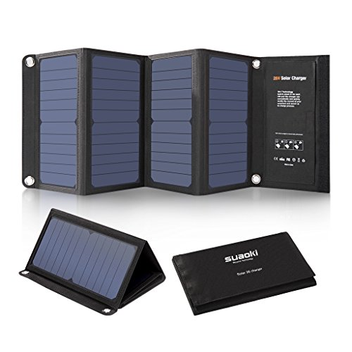 SUAOKI 28W Cargador Panel Solar Portátil Plegable con 3 Puertos de...