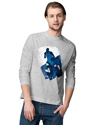 BLAK TEE Herren Grunge Basketball Player Langarmshirt XL - Golden Ash Grey-t-shirt