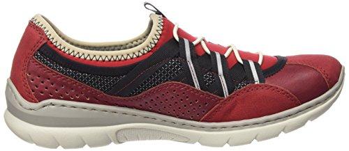 Rieker L3256 Damen Sneakers Rot (fire/rosso/schwarz/rosso / 33)