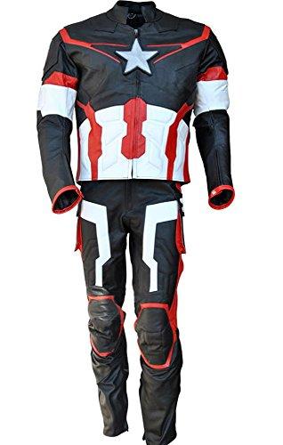 classyak Herren Age of Ultron echtes Leder Motorrad Kostüm
