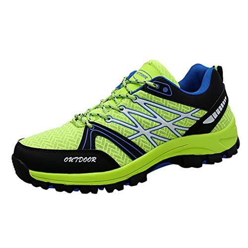 ❤️ AG&T ❤️ Herren Fitness Laufschuhe Atmungsaktiv rutschfeste Mode Sneaker Sportschuhe (Kunststoff Grün Armee Männer Kostüm)