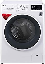 LG 7 kg Inverter Fully-Automatic Front Loading Washing Machine (FHT1007SNW.ABWPEIL, Blue and White, Inbuilt He