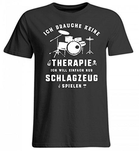 Hochwertiges Übergrößenshirt - Schlagzeug spielen statt Therapie - Die Schlagzeug Geschenkidee ist erhältlich als Pullover, Hoodie, Schlagzeug Shirt, Musiker Tasse, Rucksack, Sweater für Damen, Herre