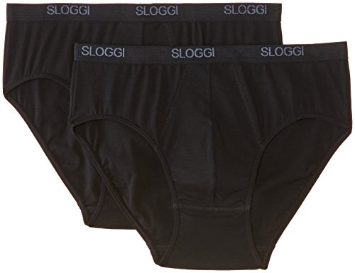 Sloggi - Sloggi Men Basic Midi Brief, Uomo da uomo, nero(schwarz - schwarz), 2XL