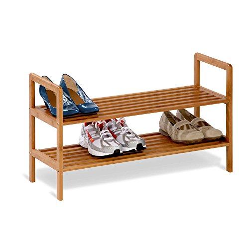 honey-can-do-sho-01600-bamboo-2-tier-shoe-shelf-multi-colour