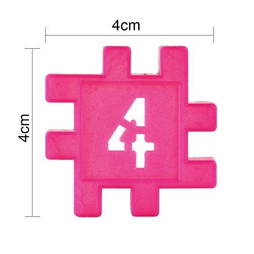 Meiqils 132pcs Bloques de Construcción Magnéticos Para La Educación Del Niño(4*4cm/p)