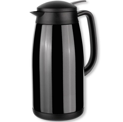 1,5 L Vakuum (Isosteel Tableline VA-9343K Vakuum-Isolierkanne 1,5 L aus 18/8 Edelstahl schwarz beschichtet mit Quickstop-Einhandausgießsystem)