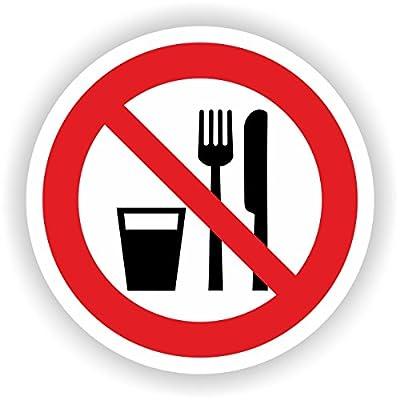 Essen und Trinken verboten / VER-25 / Sicherheitszeichen / Piktogramme / DIN EN ISO 7010
