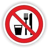 Essen und Trinken verboten / VER-25 / Sicherheitszeichen / Piktogramme / DIN EN ISO 7010 (10cm)