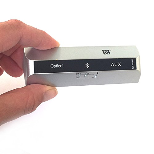 LAYEN tx-rx - Bluetooth 4.1 émetteur et récepteur numérique avec multi-pair (connecter 2 appareils), aptx-ll (faible latence pour transmission), (Paire) et facile NFC aptX pour streaming audio sans fil de qualité CD. Premium 2 en 1 de haute qualité Musique Solution. aux 3,5 mm ou Toslink/optique d'entrée et de sortie permet de qualité CD pour haut-parleurs, écouteurs, Hi-Fi, TV, PS4, Xbox, PC, iPod, MP3/MP4, système Home stéréo et beaucoup plus...