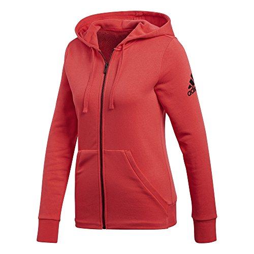 adidas Damen Essentials Solid Full-Zip Hoodie Real Coral