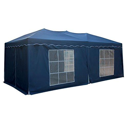 Tente de réception MISTRAL pliante 3x6m Bleu avec panneaux