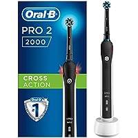 Oral-B PRO 2 2000 Cepillo Eléctrico Recargable con Tecnología De Braun, 1 cabezal de recambio, negro