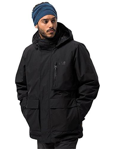 Jack Wolfskin Herren FJAERLAND Jacket 3-in-1-Jacke Wasserdicht Winddicht Atmungsaktiv 3in1-jacke, schwarz, M Schwarz-mobile-skin