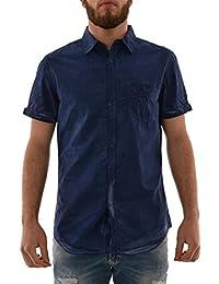 chemise manches courtes lee cooper 005382 derek bleu