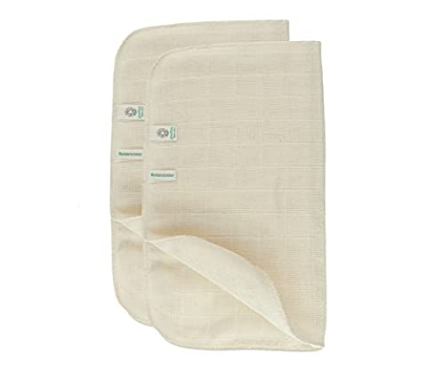 Green Fibres Set of 2 Organic Cotton Muslin Face Cloth