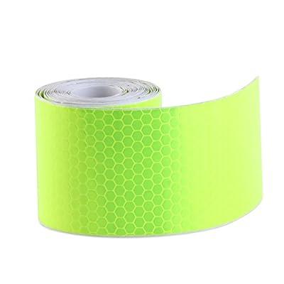 PIXNOR Klebeband Warnklebeband Reflektorband Sicherheit Markierung Band 3M (grün)