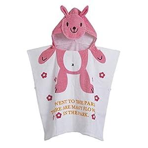 Gagacity Unisex Bambini Teli da Poncho da Bagno con Cappuccio,Coperta Morbida Cotone di Balneazione Wrap Vestaglia per 1… 16 spesavip