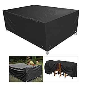 ROSENICE Furniture Covers Tarpaulin Dustproof Outdoor Table Covers for Garden Patio Furniture,258*258*90CM