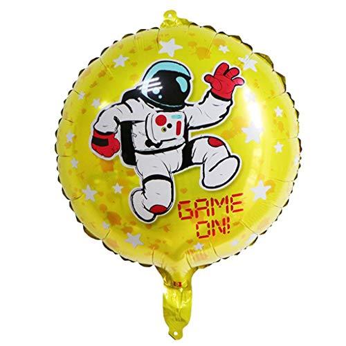 TianranRT❄ Ballon,5 Stücke Astronaut Ballon-Förmigen Raum Thema Kinder Ballon Party Decor Nette Und Interessante Tier Modell (B) (Zeigen Tier-ausstechformen)