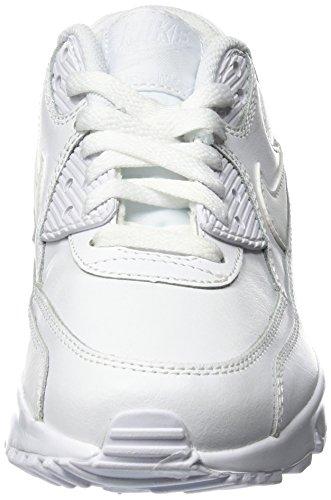 Nike Air Max 90 Ltr (Gs), Chaussures de Running Entrainement Garçon Blanc Cassé (Bianco)