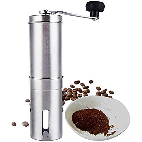 Delipop Macina caffè manuale Premium - acciaio inox con ceramica
