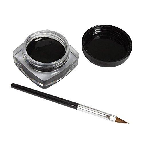 Eyeliner, Kolylong 1pc Imperméable Eyeliner Gel Crème Avec Brush Maquillage Noir Waterproof Eye Liner