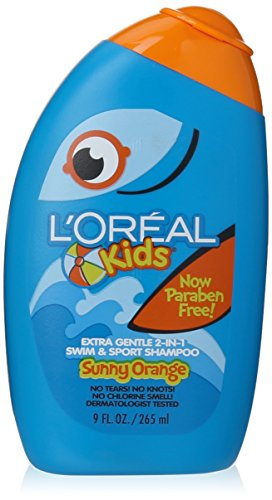 L'Oreal Kids Extra Gentle 2-in-1 Swim & Sport Shampoo, Sunny Orange 9.0 Fluid Ounce by L'Oreal Paris