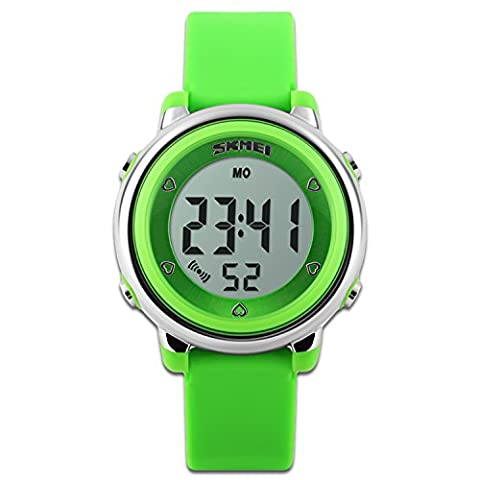 Children's Watches Sport Watch with Stop Watch and 7 LED
