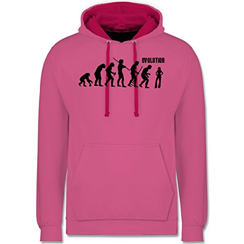 Shirtracer Evolution - Cowgirl Evolution - XXL - Rosa/Fuchsia - JH003 - Kontrast Hoodie