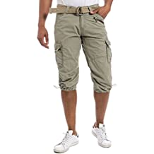 Timezone Herren Shorts MilesTZ cargo 3/4 pants incl.belt