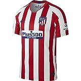 Nike ATM Y Nk BRT Stad JSY SS Hm Football T-Shirt, Unisex niños, Sport Red/White/(Deep Royal Blue) (Full Sponsor), 147-158