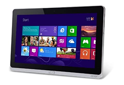 Acer Iconia W700P 29,5 cm (11,6 Zoll Full HD Multi-Touch) Convertible Tablet inkl. Touch & Type Case (Intel Core i5 3337U, 1,8GHz, 4GB RAM, 128GB SSD, Intel HD 4000, USB 3.0, micro HDMI, Win 8 Pro) silber