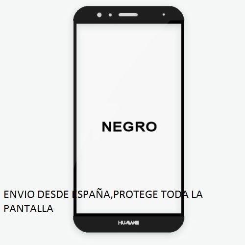 Protector de Pantalla Completa para Huawei G8 de Dureza de 9H sin Burbujas. ( Negro) Full Cover Huawei G8 Cristal Vidrio Templado Premium de Cobertura Completa con Bordes Redondeados.