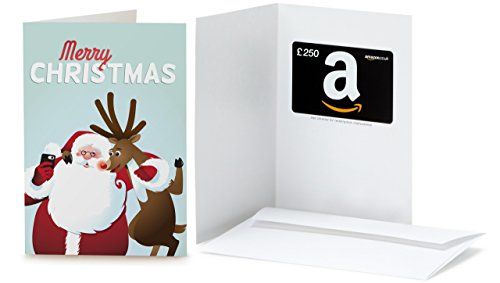 Amazon.co.uk Gift Card - In a Greeting Card - £250 (Christmas - Santa and Rudolph)