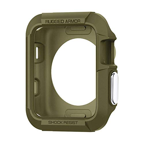 Spigen Apple Watch Hülle, Rugged Armor entworfen für Apple Watch 42mm Series 3/2/1/Original (2015) Case - Olive Green -