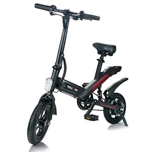 ROLLGAN Shark Bike Elektrofahrrad Faltrad 3 Modi Ebike 12 Zoll Klapprad 6000 mAh Lithium-Batterie mit 350W Motor Tragbar und einfach zu speichern Stadtrad