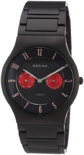 Bering Time - 11939-729 - Montre Homme - Quartz Analogique - Bracelet Différents Matériaux Noir