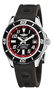 Breitling Men's A1736402/BA31 Superocean Abyss Black and Red Dial Watch