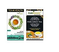 FARGANIC Detox Green Tea & Turmeric Green Tea. Tea & Health Series with Active Ingredients. 55 Tea Bags