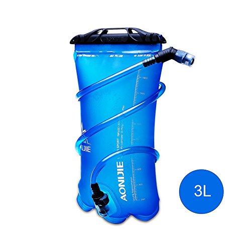 Fastar Outdoor zaino Outdoor sacchetto della vescica dell' acqua esterno portatile zaino acqua borsa per sport outdoor ciclismo, trekking, campeggio arrampicata corsa Water bag Type A:3L