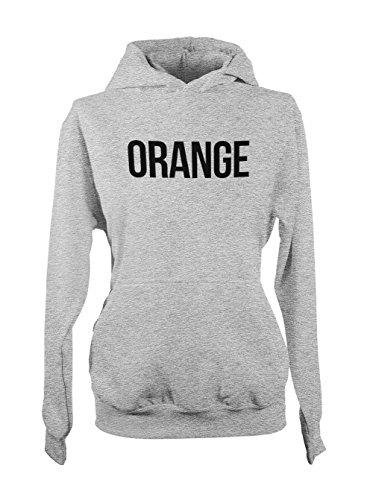 Orange Fruit Amusant Healthy Food Femme Capuche Sweatshirt Gris