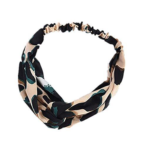 Staresen Haarbänder Damen Haarschmuck Hochzeit Haarschmuck Geschenk Damen Leopard Haarband Bedrucktes elastisches Fadenkreuz Mädchen Haarband Stirnband