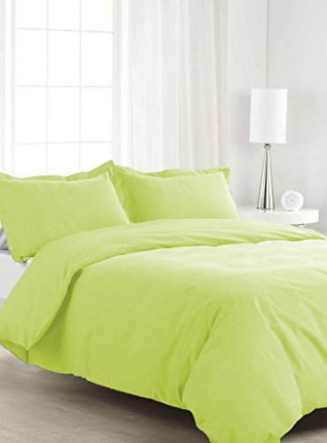 SCALABEDDING 500TC 500% ägyptische Baumwolle, 5teilig Bettwäsche für King/Cal King Size Betten Solide Sage - Cal-king-size-bett Bettwäsche