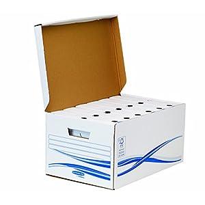 Bankers Box 4460504 Klappdeckelbox Maxi und 6 Stück Archivschachteln, 80 mm